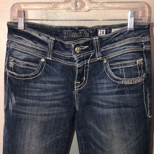 Miss Me flare flap pockets denim jean size 28